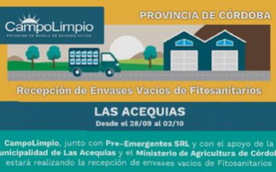 Primera Campaña de Recepción Itinerante en Las Acequias, Córdoba
